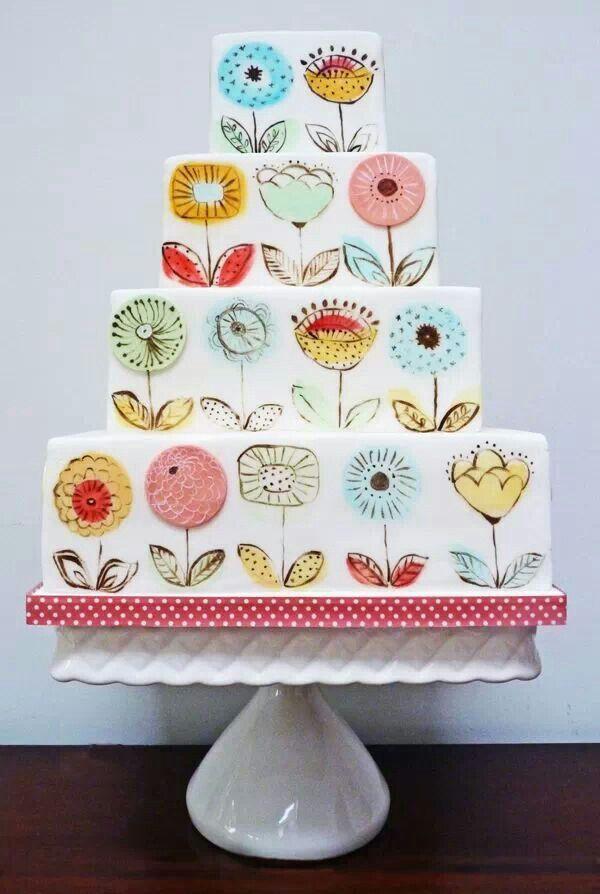 50's style Hands Down!  Best Cake!  Love,love, love