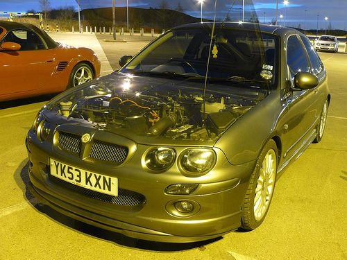 MG ZR Turbo (Transparent Bonnet) by gproffitt87, via Flickr