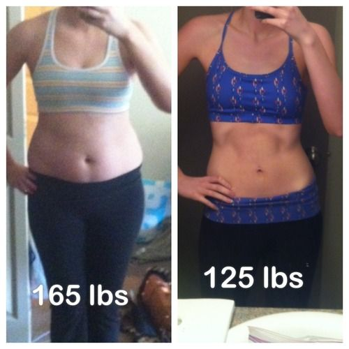 "chloe-eats-clean tumblr    Starting Weight: 165 lbs  End Weight: 125 lbs  Height: 5'9""    ... i can do that!"