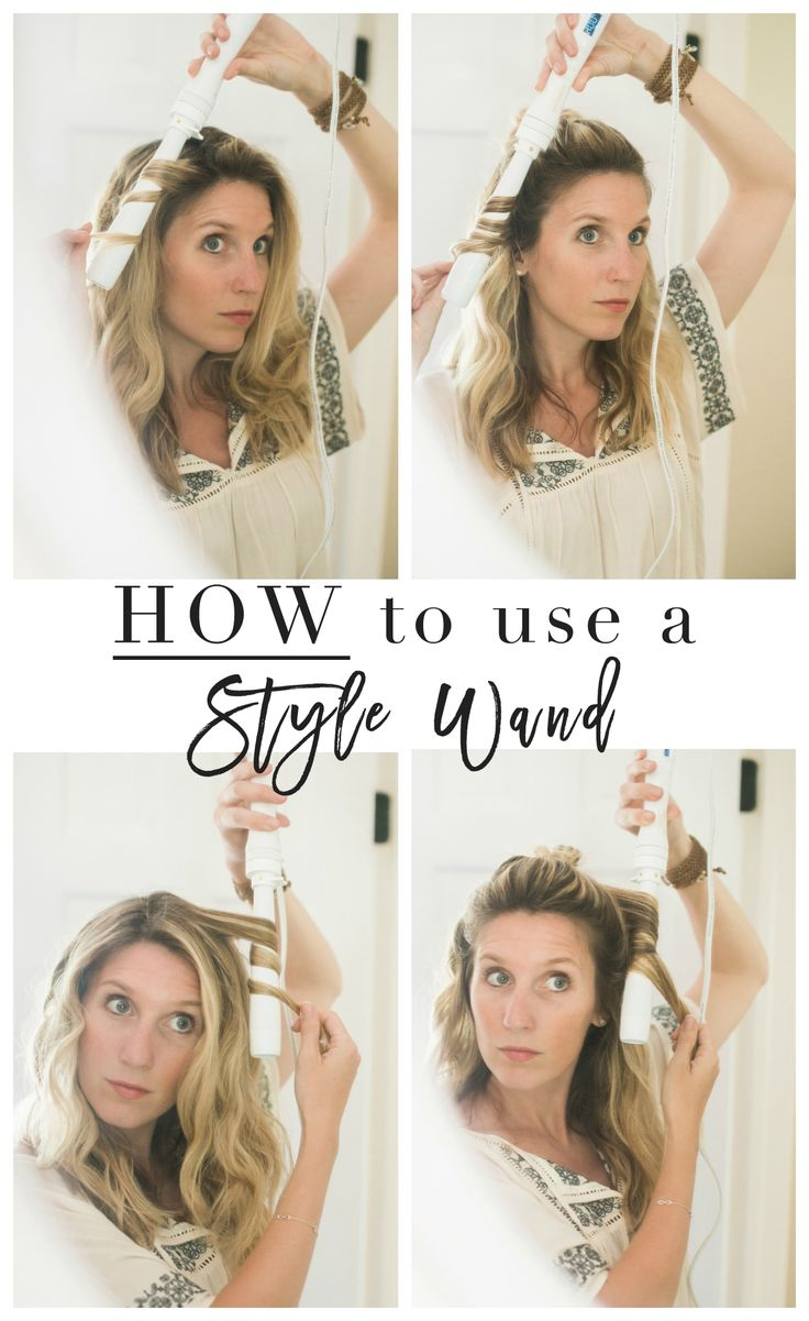 How to use a Style Wand for Quick and Easy Curls // A Hair Tutorial for Moms with Little Time!