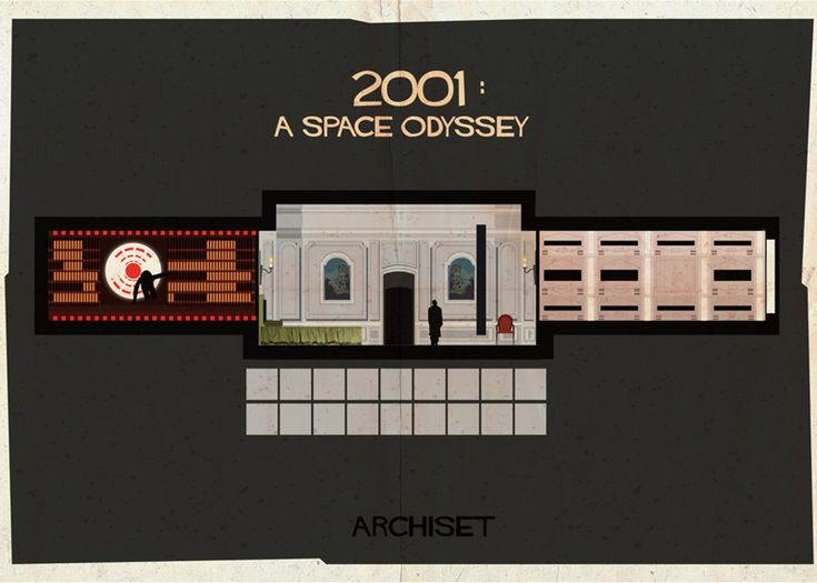 Famous film sets illustrated