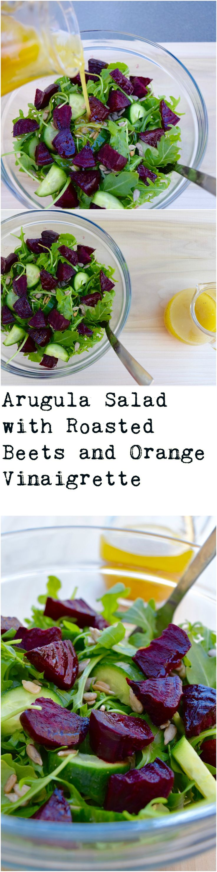 A vibrant winter salad that's vegan, gluten free, delicious, and super easy!