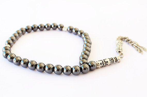 Hematite Tesbih Prayer Beads 33 Tasbih by asteriascollection