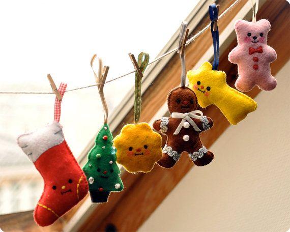 Special christmas felt ornament