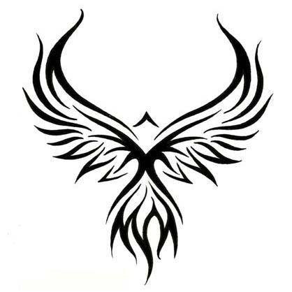 23 best tribal bird tattoos for men images on pinterest for Freedom tribal tattoos