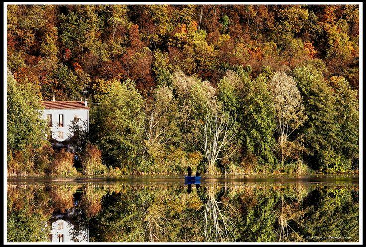 il lago di fimon . Vicenza, Italy