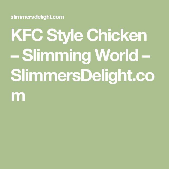 KFC Style Chicken – Slimming World – SlimmersDelight.com