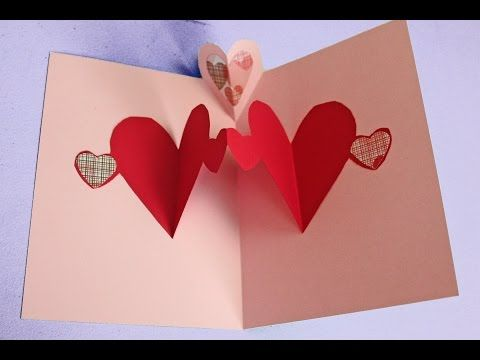 Easy pop up heart card making tutorial (to make with kids not just for Valentine's) - YouTube
