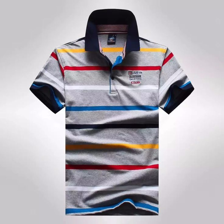Buy 2017 Summer business Male polo shirt men brand clothing Tace Shark Striped Cotton Solid Polos Shirts. Click visit to read descriptions