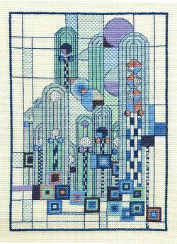 New Art Deco - Skyscape Cross Stitch