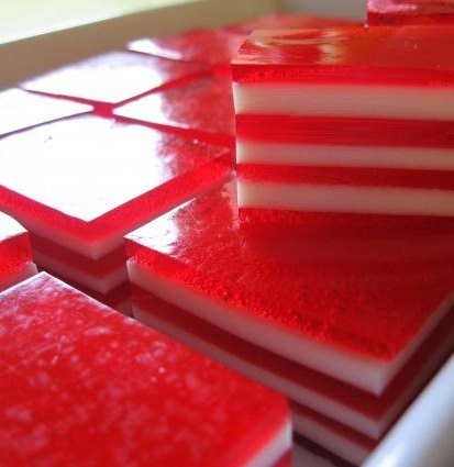 Layered Jello, Canada Day July 1st