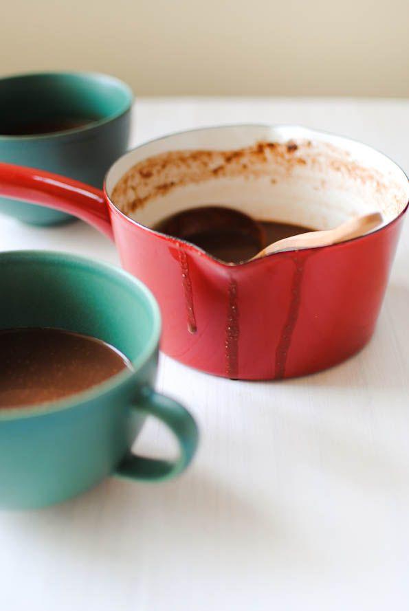 Hot Chocolate (using home made quinoa milk + spices)