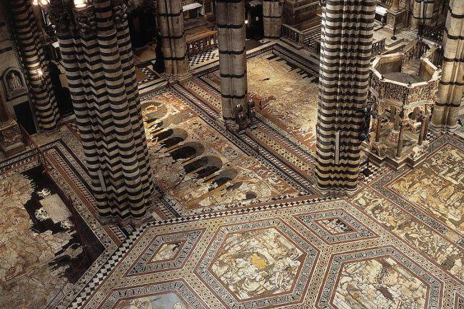 Pavimento del Duomo di Siena, scopertura straordinaria per il Giubileo della Misericordia