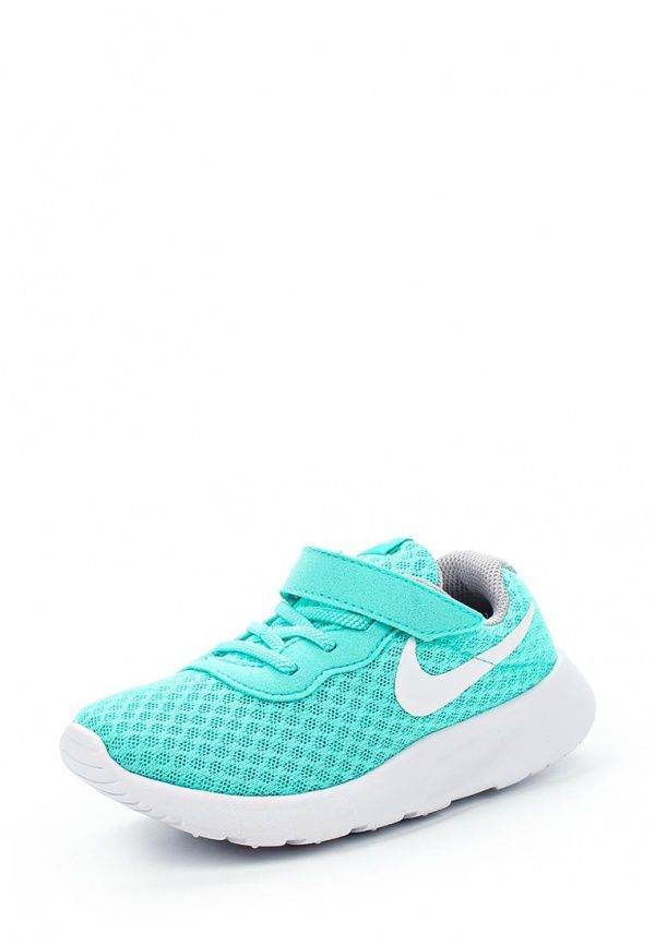 Кроссовки Nike NIKE TANJUN (TDV) Кроссовки Nike. Цвет: бирюзовый. Материал: текстиль. Сезон: Осень-зима 2016/2017. Одежда, обувь и аксессуары/Обувь/Обувь для девочек/Кроссовки и кеды