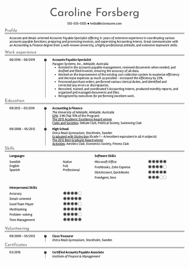 Accounts Payable Specialist Resume New Resume Examples by