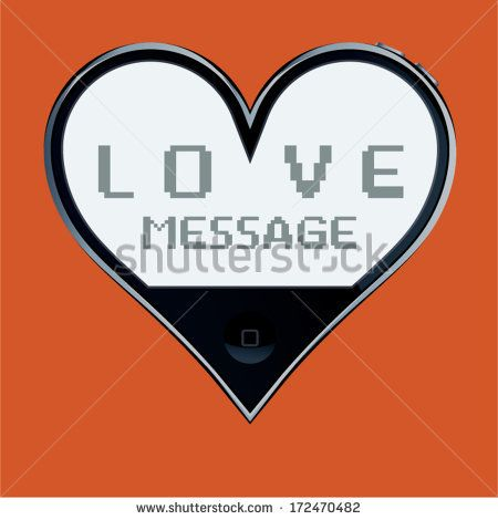 Heart shaped telephone: love message. by Catharsis Vectorielle, via Shutterstock