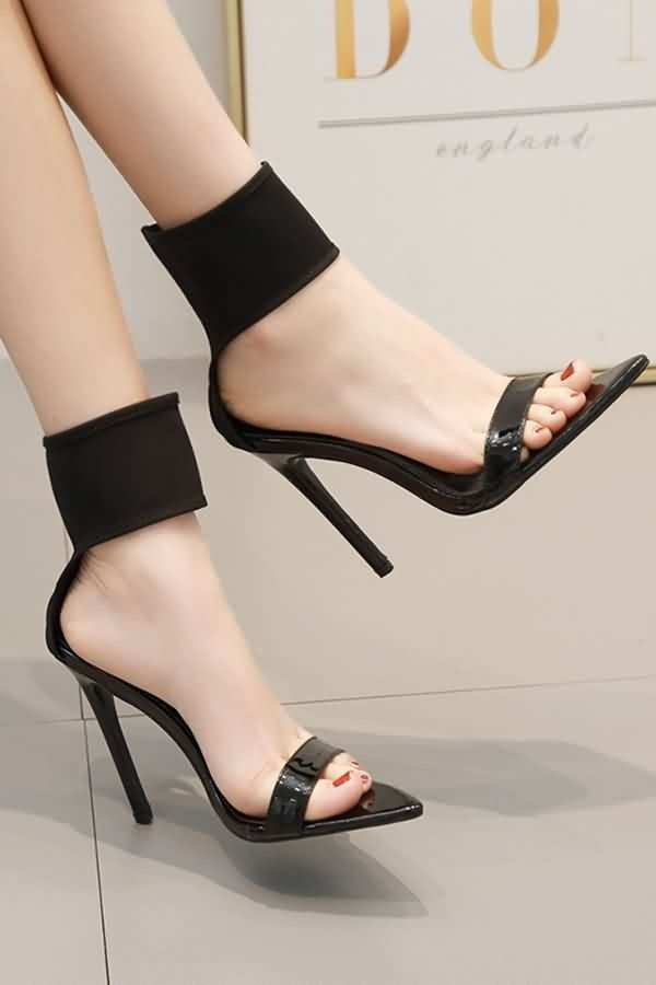44f63cdfa6 Black Ankle Strap Open Toe Stiletto High Heel Sandals #059332 @ Fashion High  Heels Shoes,Cheap Heels,Sexy Heels,Stiletto Heels,Womens Dress Heels,Pump  Heels ...