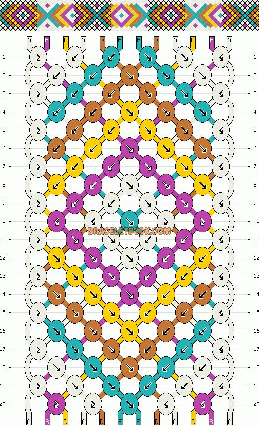 Chevron friendship bracelet pattern #2407 by mikkomix    http://www.braceletbook.com/pattern_normal/2407.html