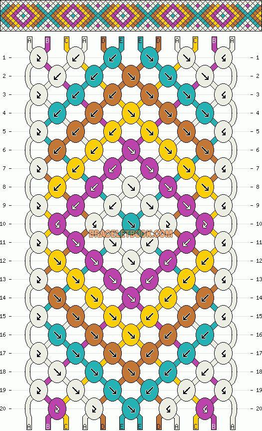 Chevron friendship bracelet pattern #2407 by mikkomix    http://www.braceletbook.com/pattern_normal/2407.html