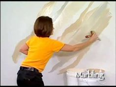 Marbling How To Faux Finish Painting by The Woolie - YouTube