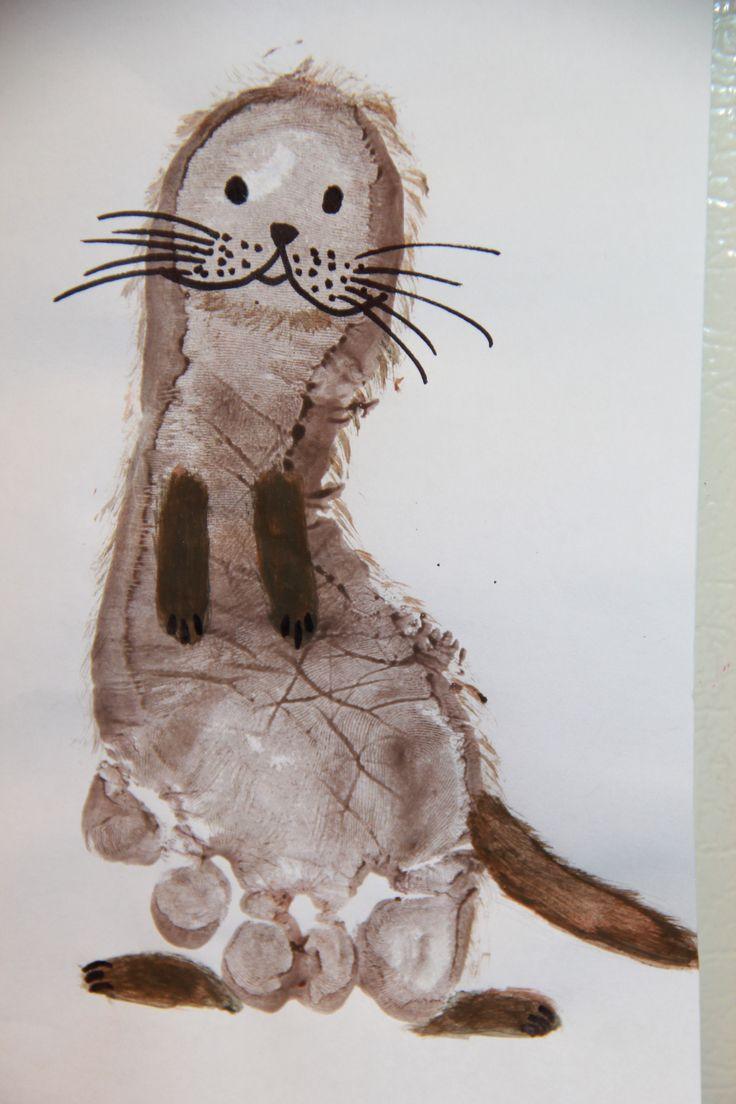 footprint otter