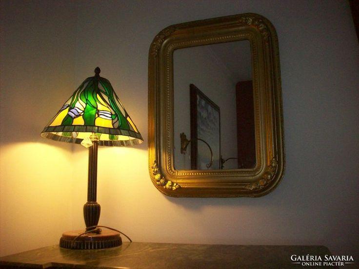 Tiffany lámpa márvány talpon