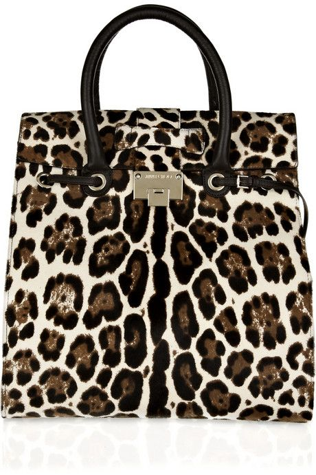 Jimmy Choo's leopard-print calf hair tote will give everyday office looks an instant hit of glamour.
