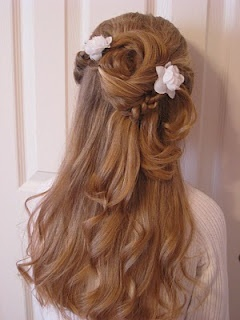 twisted flower girl hair