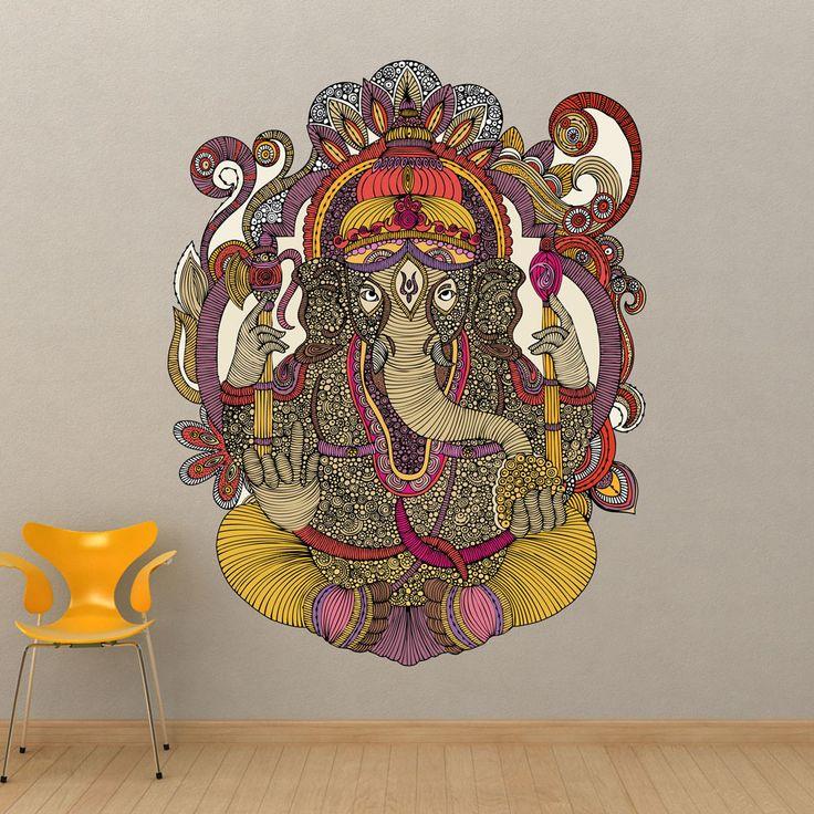 Ganesha Wall Sticker Decal by Valentina Harper