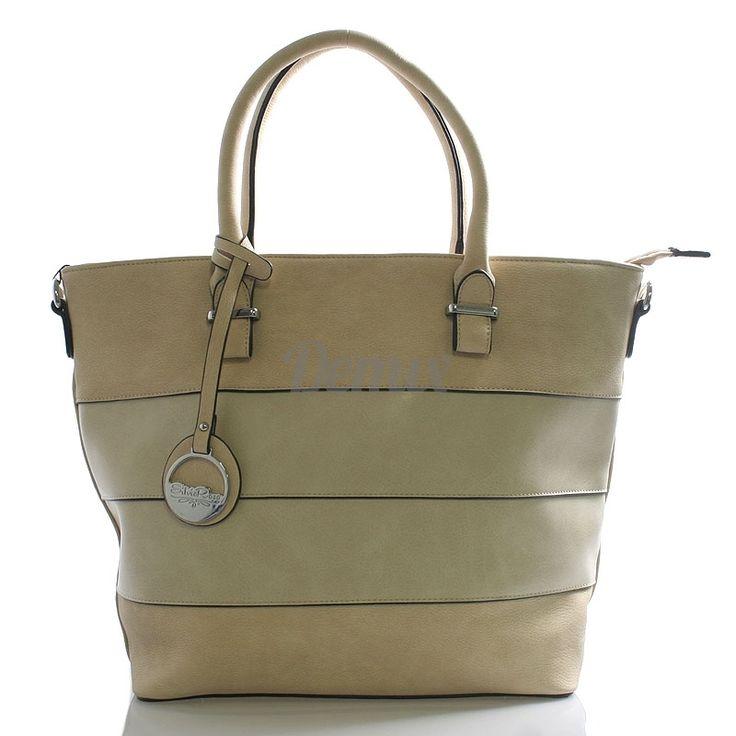 Elegantní dámská béžová kabelka SILVIA ROSA. Hodí se do práce i na pláž.