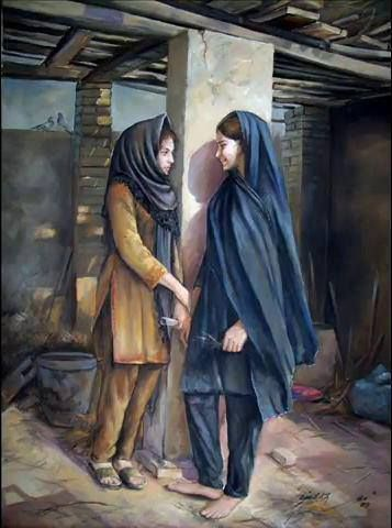 Painting by Pakistani artist, Ajab Khan.