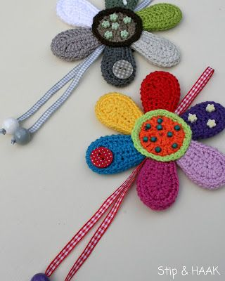 Tutorial flor crochet http://vendulkam.blogspot.nl/2013/08/do-you-like-free-crochet-patterns.html