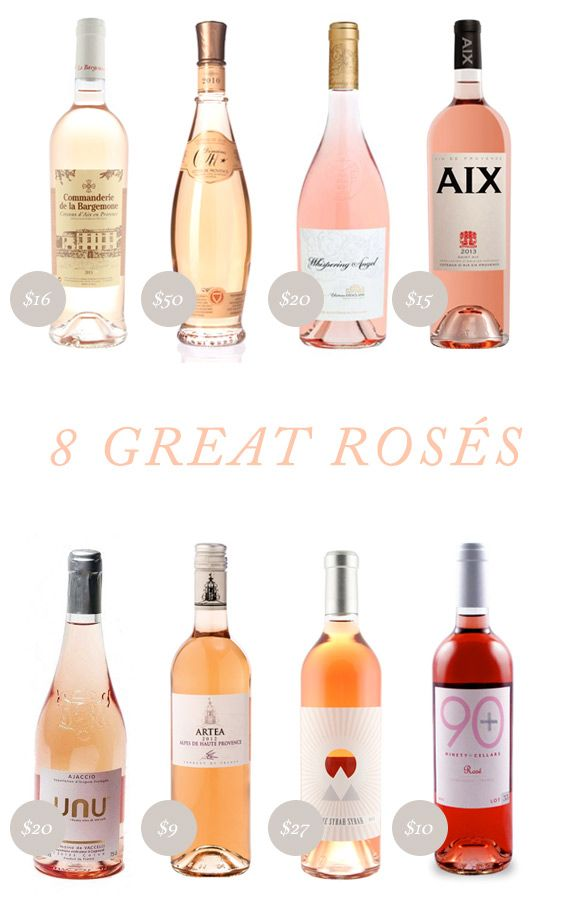 8 great rosés for summer entertaining and celebrations | see the links on 100layercake.com/blog #wine #dinnerparty