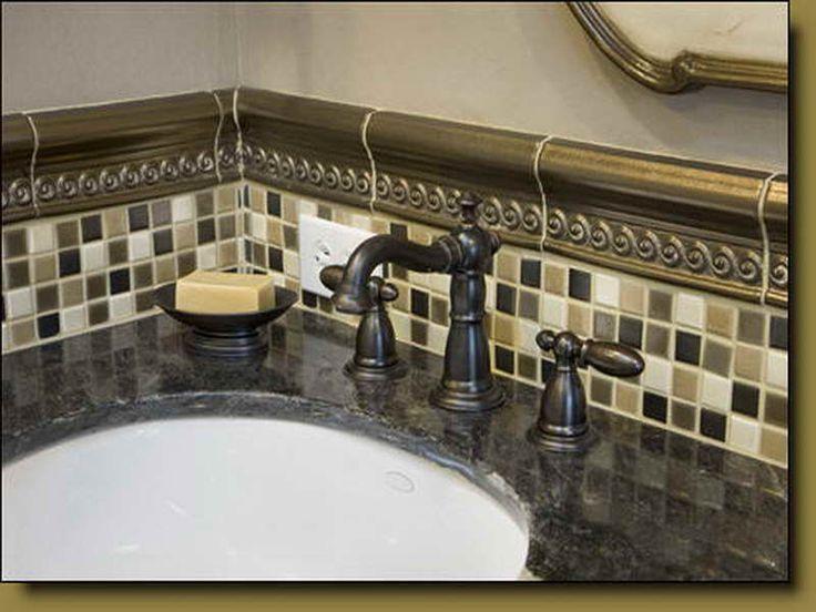 Bathroom Tile Design Patterns With Classic Faucet ~ Http://lanewstalk.com/.  Backsplash ...