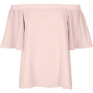 Light pink bardot top