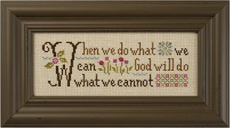 When we do what we can, God will do what we cannot ~ Lizzie*Kate Inspiration Boxer