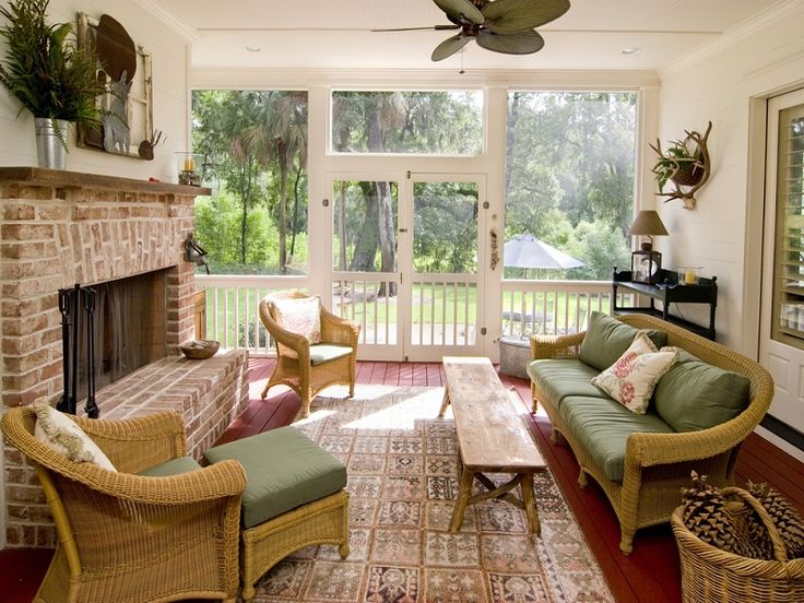 Comfy Brown Wooden Sunroom Furniture Paired. Sunrooms.jpg Comfy ...