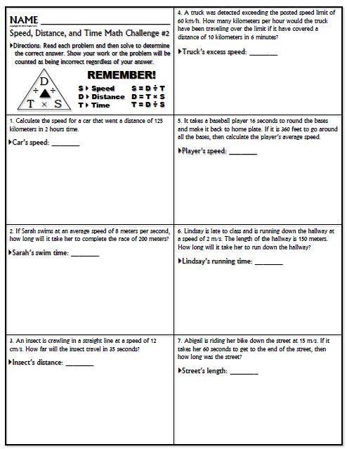 Worksheet Speed Math Challenge Version 1   School   Math ...