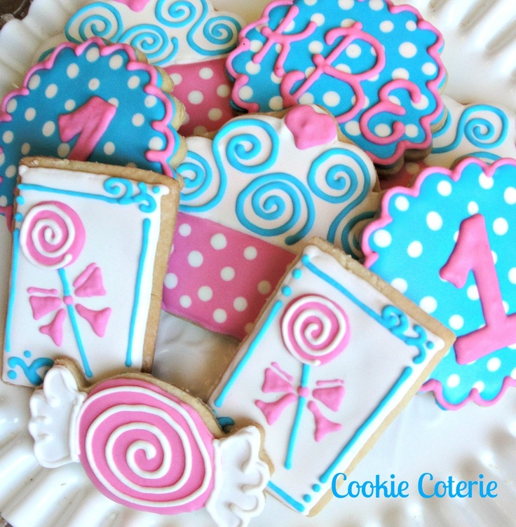 Sweet Shoppe Cookies Candy Shop Decorated Sugar Cookies Birthday Cookie Favors. $24.00, via Etsy.