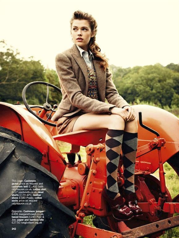 "The Terrier and Lobster: ""Tweed Comes Out to Play!"": Victoria Lee by Chris Craymer for Glamour UK November 2012"