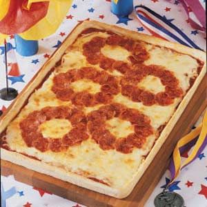 Olympic Rings Pizza & other Olympic food!