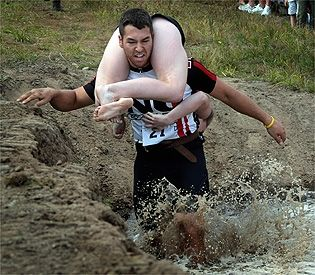 Weird Sport: Wife Carrying  Originated in Finland, wife carrying is about male competitors carrying female teammates through a special obstacle course. The objective of the game is to clear the course in fastest time. There are many thoughts about how the weird sport started but most believe the tale of Herkko Rosvo-Ronkainen, a thief who stole food and women from his area and carried the women on his shoulders.   Wife carrying can sound like a joke but this weird game is traveling through…