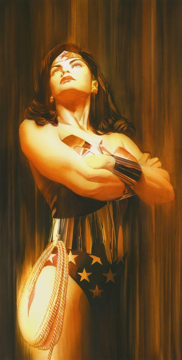 Shadows: Wonder Woman Signed by Alex Ross - Artinsights Film Art Gallery