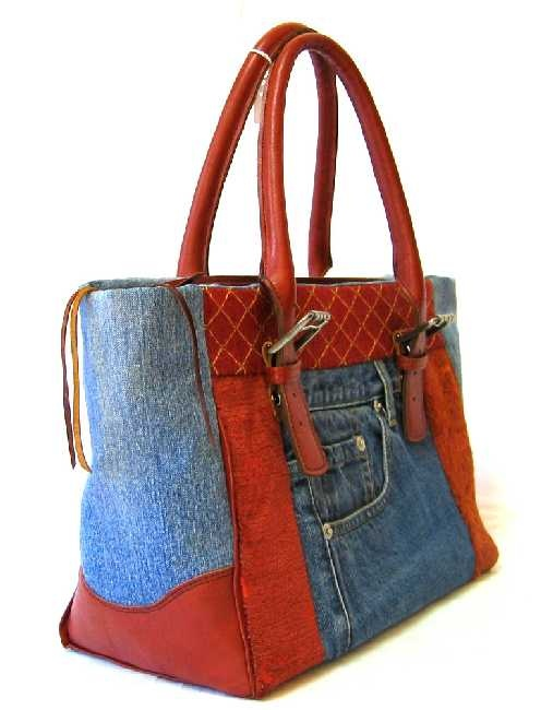 images- recyle denim bags | Patchwork Handbags wth Recycled Jeans. Height 25cm x Width 46cm x ...