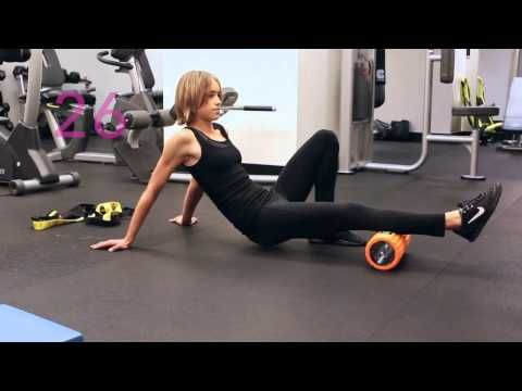 How to Foam Roll Your Calves - Trigger Point Grid Foam Roller - YouTube
