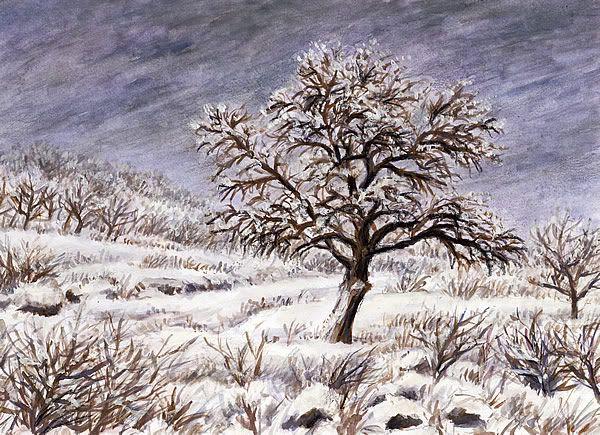 Zimní krajina, kvaš Jana Haasová
