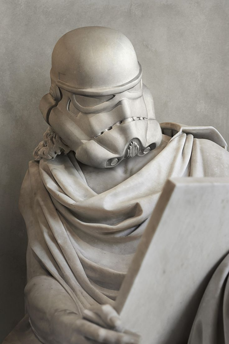 travis durden solidifies star wars characters as ancient greek statues