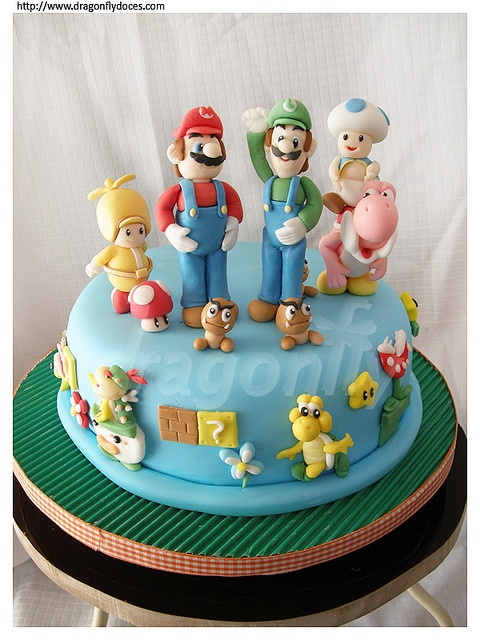 Super Mario Bros Cake / Bolo by Dragonfly Doces