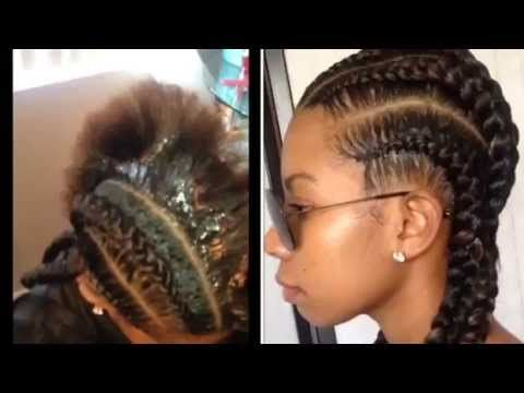 "Straight back braids tutorial by ""Styles By Jazae"" using Vonte Silk Effects!"