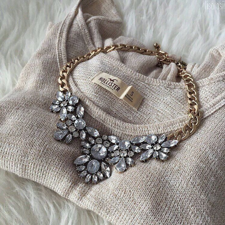 "Auffällige Halskette ""Glam And Glitter"" – #fashion #style #necklace #fashionista"
